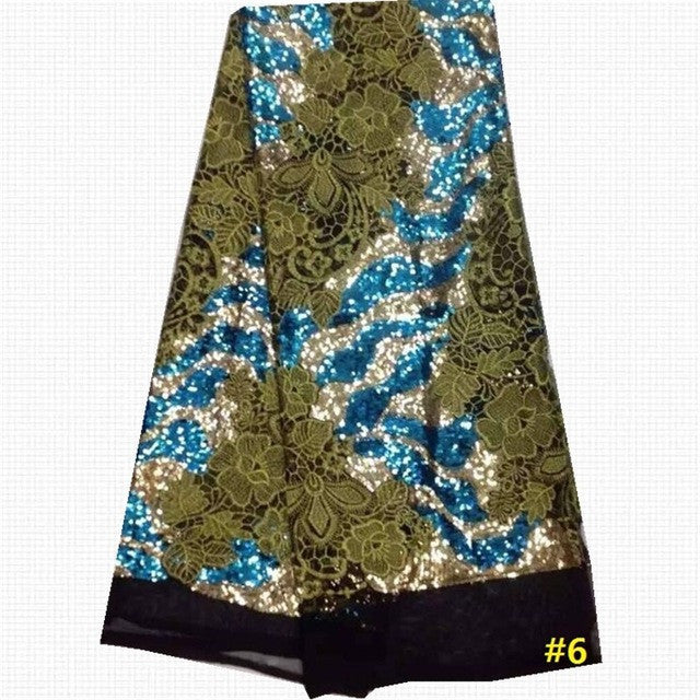 High Quality French sequins lace fabric - Owame
