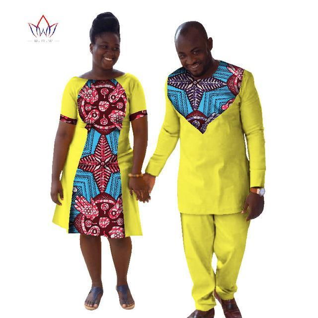 2017 New Lovers Womens Mens African Clothing Two Sets Matching Couples African Clothes Long Sleeve Clothes Couple BRW  WYQ32