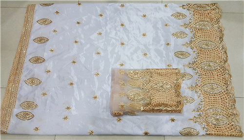 High quality 5yards African george fabric +2yards French net lace sets