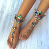 Image of Best lady New Crystal Ankle For One Pcs Bracelet For Beach Vacation Sandals Sexy Leg Chain Female Boho Statement Anklets 3157