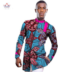 85099fcaebab6 Wholesale 2017 African Shirt For Men Print Wax African Plus Size Custom  Full Sleeve Top Dashiki ...