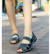 Unique Women flat sandals Woven shoes - Owame