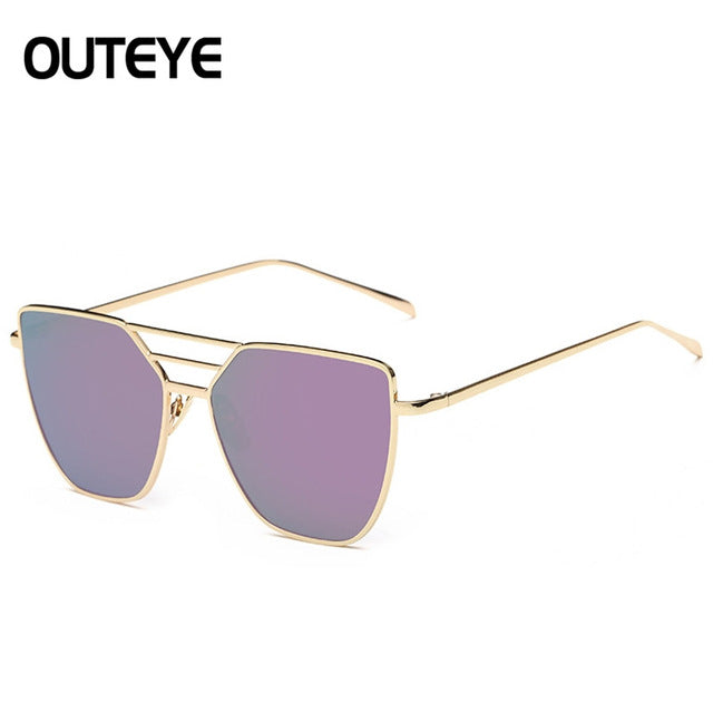 d7d8599249 ... Cat Eye Mirror Sun Glass 2017 Brand Designer Hexagon Sunglasses For Women  Oversized Cateye Shades Luxury ...
