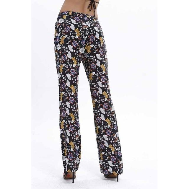 2016 Fashion vintage pattern women ankle length pants sexy Western vogue ladies designer trousers low price wholesale