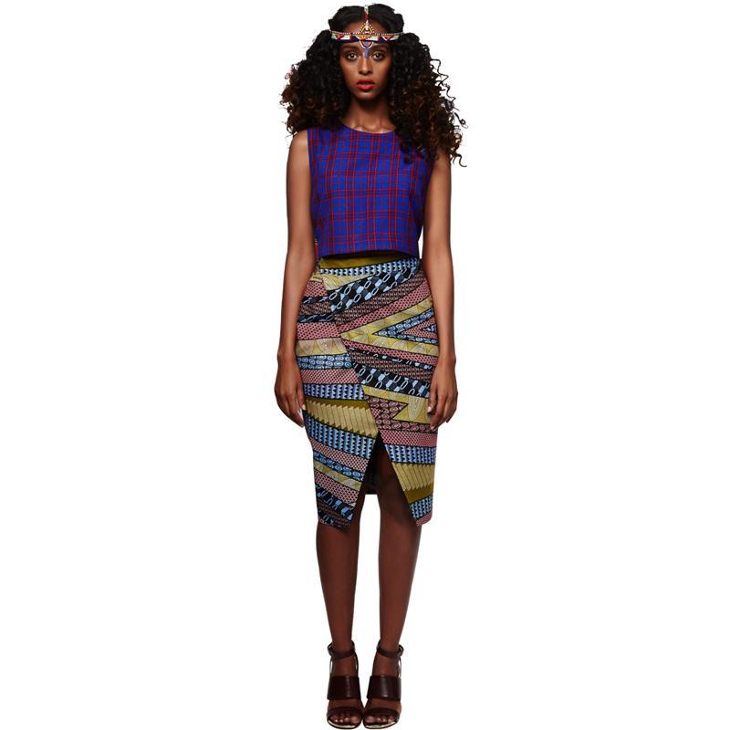 2017 summer  African dashiki batik print skirt high waist pencil Knee-length skirts for women pure cotton plus size S-XXXXXL