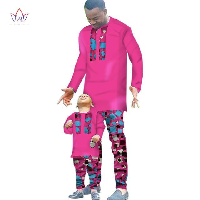 2017 Spring New Fashion Mens African Clothes Two Pieces Set for Men and Boy Set Clothing Long Sleeve Shirt + Pants BRW WYN294