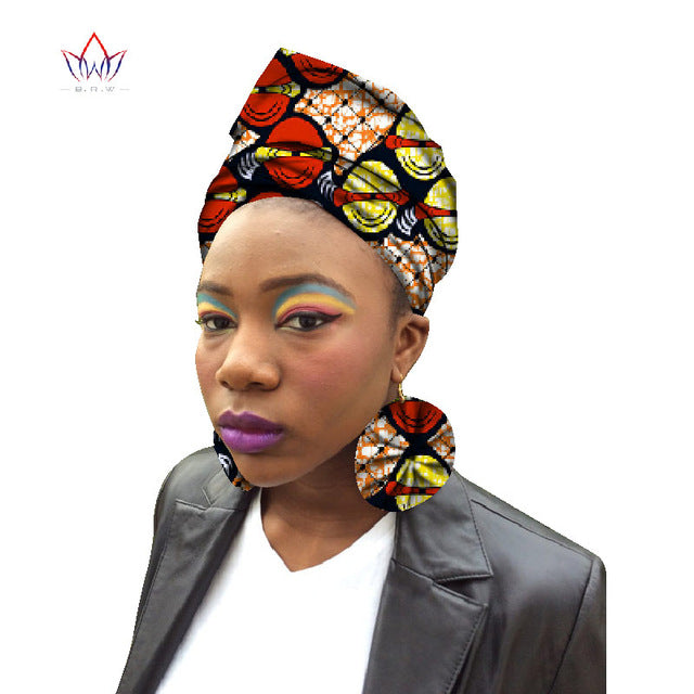 Latest African Earrings & Matching Ankara Headtie Africa Wax Print Earrings Nigeria/African Earrings Ankara Earring Set