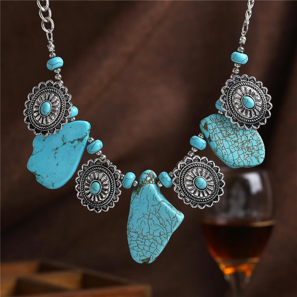 2017 High Quality natural stone Necklace Jewelry Women Vintage Choker Necklace Collar Necklaces & Pendants Fine Jewellery women