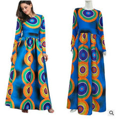 Dashiki African Dresses For Women, African Ankara Bazin Print Dress,African Traditional Custom Clothes