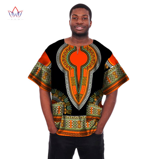 Mens African Clothing African Print Wax Dashiki Men t Shirt Plus Size African Clothing Brand Clothing Men Shirt Crop Tops WYN04