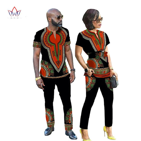 African Dresses for Couples, Dashiki Couples Clothing - Owame