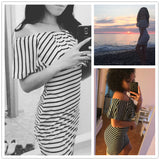 Summer Striped Dresses - Owame