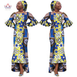 African dress women O-Neck long ankle-length dress for wedding,party-0wame12