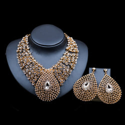 Africa jewelry sets,crystal necklace and earrings wedding necklace-0W-56