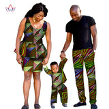 African clothes for women,African traditional  Family Clothing,Matching Family Clothes for Father Mother and Son Baby Sets 5 pieces