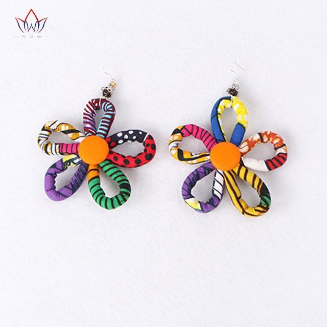 2017 new fashion African Accessories for Women Bohemia Style Women earrings African cotton fabrics  earrings For Gift WYB100