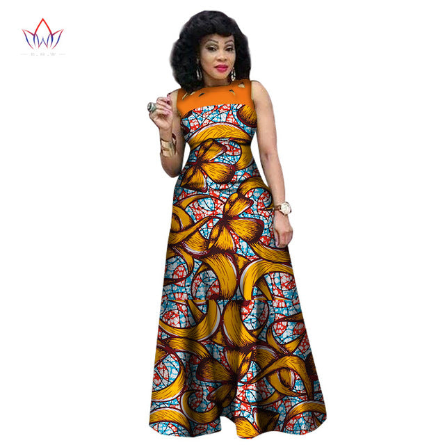 African Dresses for Women, African Print Clothing, Ankara Long ...