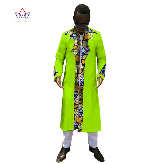 Mens Ankara Fashions African Clothing Long Sleeve Shirt Men Dashiki Africa Print Cotton Tops and Long Dashiki Pants 6XL WYN247