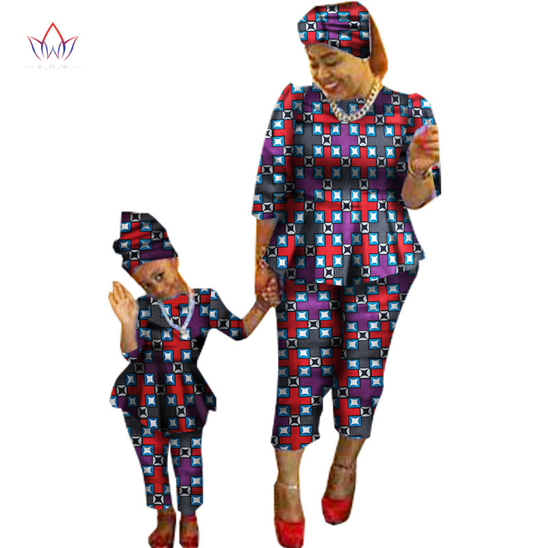 fa2273e698e ... African Traditional Mother and Daughter Matching Dashiki Family  Clothing Sets ...