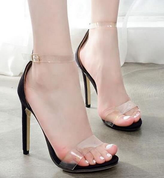 c960f28b2f8 Hover to zoom · 2018 summer bride party female sexy thin high heels women  pumps ...