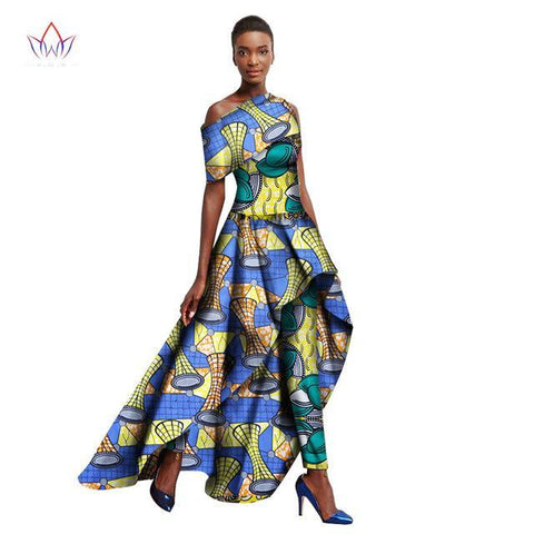 2018 Ankara Dashiki Fashions Traditional African Clothing for Women Long Dresses + Long Pants,Dashiki Prom Dress, African Clothing, African Fashion, African Party Dress, Dashiki Maxi Dress