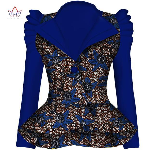 2017 Autumn African Blazer for Women Dashiki Ankara Clothing Fashion Coat Batik Wax Printing Jacket 100% Cotton BRW WY1870