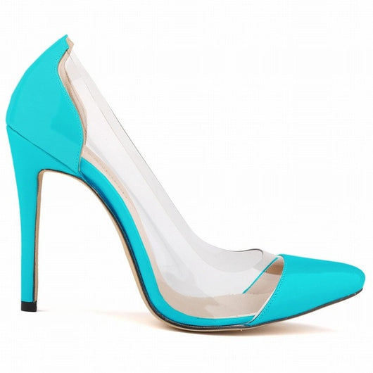 Women Sexy Shoes Stylish 11CM Thin High Heels Pumps Transparent Wedding Party Office Women Shoes Super Cheap!