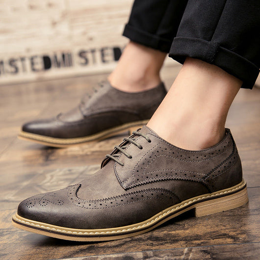 Men Casual Businesss Oxfords Men's Shoes Fashion Breathable PU leather Men's Flats Footwear Shoes Moccasins Wholesale-0WMQ89