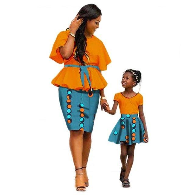 2a77459c4dc ... African print dresses for mother and daughter