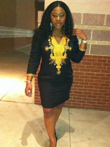 African Clothing, African Dashiki Dress - Owame