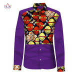2017 New Look African Mens Clothes Shirt Men Long Sleeve Slim Fit Mens Dashiki Men Casual Style Men Shirts 6XL BRW WYN301