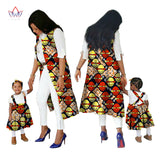 Hot Summer Family Matching Clothes Brand Mother and Baby regular cotton fabric traditional african dashiki clothing 7xl WY1685