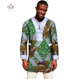 2017 African Print Shirt Men 6XL t Shirt Long Sleeve Shirt for Men Brand Clothing Mens Clothes Plus Size Mens Tops BRW WYN254