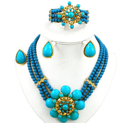african bead jewelry sets gold jewelry set indian jewelry women wedding necklace big size jewelry nigerian beads necklace