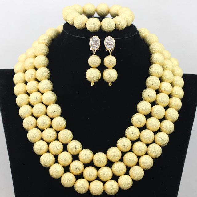 2017 Classic Orange Coral Beads Jewelry Set Nigerian African Wedding Bridal/Women Beads Necklace Jewelry Set Free Shipping CJ804