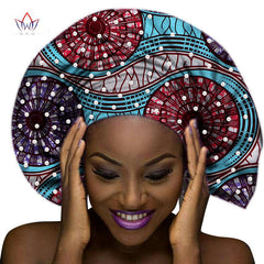 Hand made Ankara Headwrap, Head Tie,Wrap Scarf Gele with Pearls design