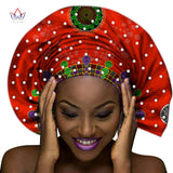 Ankara Headwrap, Head Tie,Wrap Scarf Gele with Pearls design - Owame