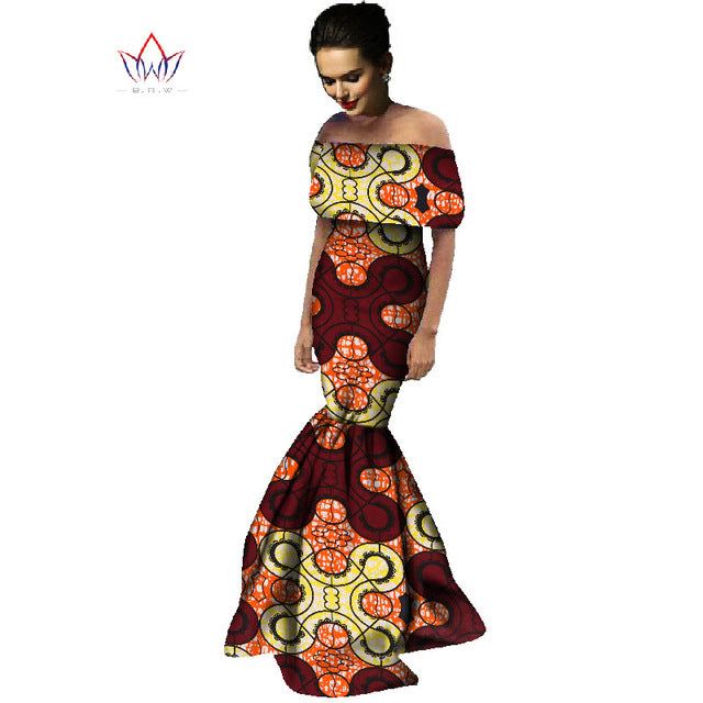 fb8cb44fd9 African Print Dresses Off Shoulder Wrap Dress Dashiki African Print ...