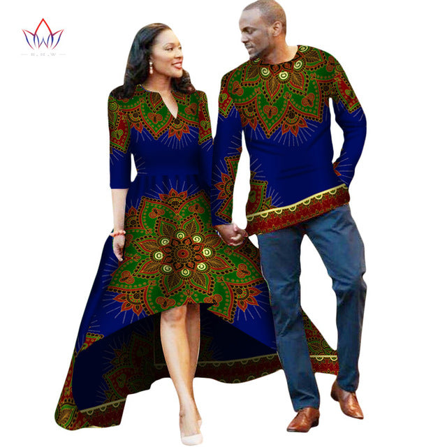 17a54ddbbd ... Couple or Lovers Dashiki African Dress for Women and Men Long Sleeve  Shirt - Owame ...