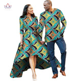 Couple or Lovers Dashiki African Dress for Women and Men Long Sleeve Shirt - Owame