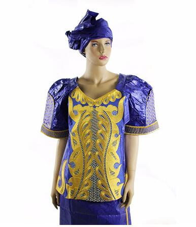 10062c6f52 African dresses for women Plus size african clothing Bazin riche brocade  Embroidery African Headtie Cotton