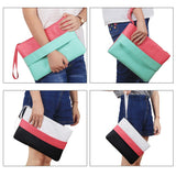Fashion Ladies Handbag Solid Patchwork Lady Clutches Soft Girl Zipper Packet Casual Bags