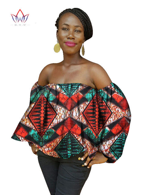 8edcc98e8cd56 Women African Batwing Tops Print Wax Shirt Plus Size Africa beautiful  Shirts Plus Size 6XL Crop. Hover to zoom