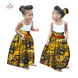 Summer Children African Clothes Customized Girl Fashion Long Skirt African Dashiki Print Clothing with a Free Headband BRW WYT34