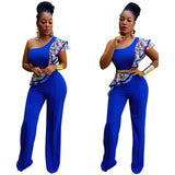 Sexy  Sleeveless half Shoulder Sexy Pants Baggy Suit trouser - Owame