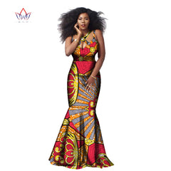 Beautiful Ankara African Style Printed Dress Classic Cotton Sleeveless  Halter Dress Plus Size M.L 85a4c953f269