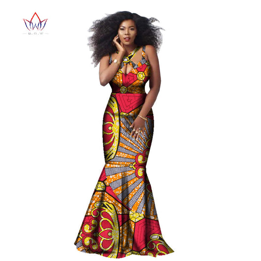 Beautiful Ankara African Style Printed Dress Classic Cotton Sleeveless Halter Dress Plus Size M.L,XL,XXL,XXXL,4XL,5X,L6XL