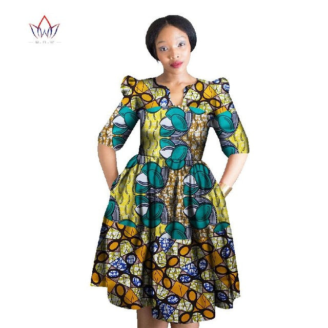 8aa3d8a4e94 ... Africa Dress For Women Wax Print Dresses Dashiki Plus Size Africa Style  Clothing for Women Office ...