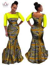 Plus Size Summer dresses women 2017 o-neck Custom Clothing Africa Wax Dashiki Slim Cut Sexy cotton natural dress none 6xl WY497