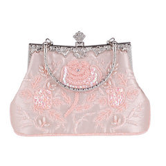 Vintage Style Beaded Women Evening Bags Diamonds Purse Day Clutches Bag  Embroidery Pearl Wedding Handbags For ... 2127e9db2effe